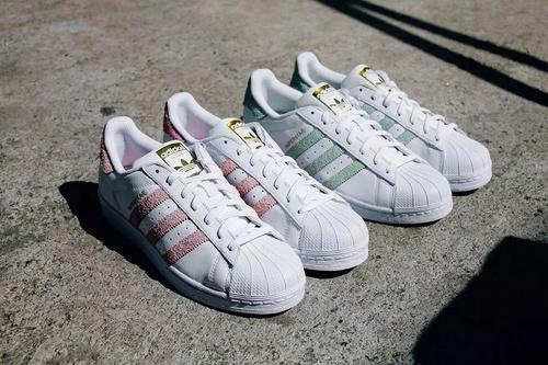 Adidas Superstar Foundation贝壳头白绿女鞋板鞋CP9502 36 398品牌货源