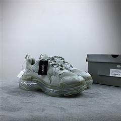 巴黎世家银雾灰色做旧姥爷鞋透明气垫Get毒版3545BalenciagaTripleSSneaker