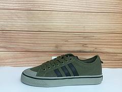 130 Adidas NIZZA CQ2325 阿迪达斯三叶草 青春校园帆布低帮板鞋军绿 男鞋