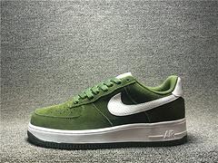 高品质1:1质量超A空军一号军绿猪八革低帮板鞋820266-301男鞋39-45