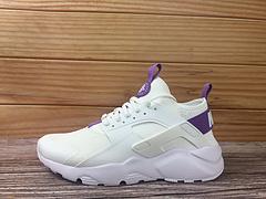 180NikeAirHuaracheRUNULTRA847568015耐克华莱士4代白紫色网面内置气垫休闲跑步鞋男女鞋3645