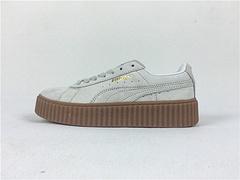 100元 Puma/彪马 蕾哈娜同款松糕底休闲板鞋 米白 size:36-44