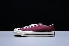 162059C Converse 1970S 匡威三星标帆布鞋 低帮酒红 区别市面其它版本!