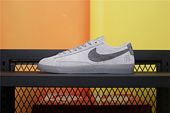 454471-009  Nike Blazer Low 卫冕冠军 3M反光 浅灰 开拓者低帮休闲运动板鞋36-44