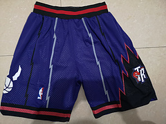 NBA球裤:猛龙队大龙紫色球裤