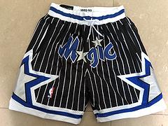 NBA球裤魔术复古JUSTDON黑色球裤