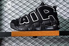 """重磅联名!Supreme x Nike Air More Uptempo 大AIR皮蓬系列复古篮球鞋""""黑白纹""""414962-002  尺码:36 36.5 37 37.5 38 38.5"""