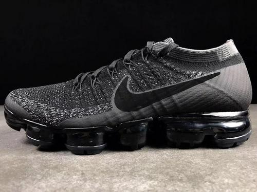 Nike air vapor max flyknit 849558-007 black counters with color