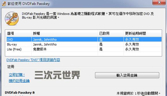 DVDFab Passkey 8注册破解版
