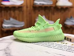 公司级 阿迪达斯Adidas Yeezy Boost 350V2 爆米花夜光限定配色荧光绿镂空椰子跑鞋 EG5293 尺码36 36.5 37 38 38.5 39 40 40.5 41 42