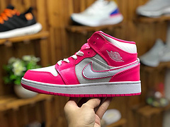 ZT 乔1 Air Jordan 1 Mid AJ1中帮白粉红女鞋 555112-611尺码36 36.5 37.5 38 38.5 39 40