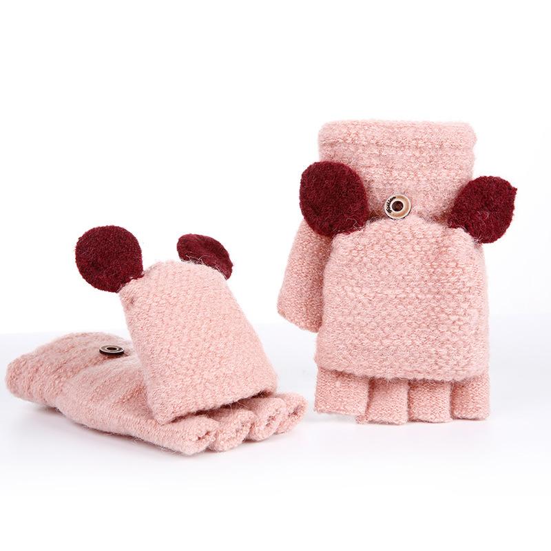 Фритюрница MILE Женские кашемировые перчатки без пальцев (Фото 1)