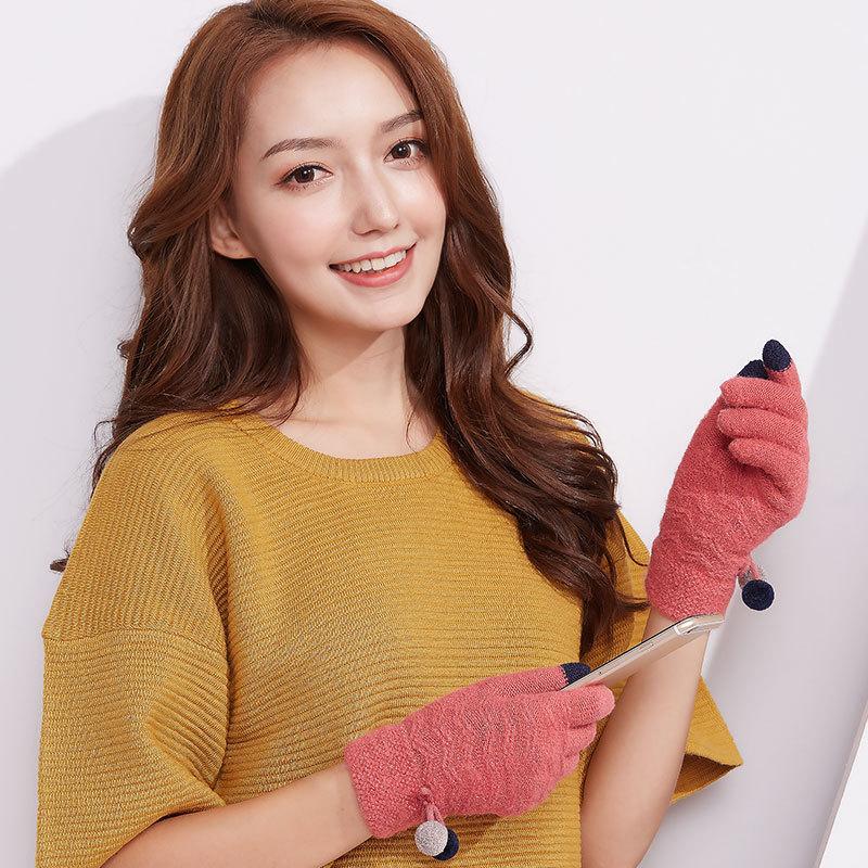 Фритюрница MILE Женские перчатки стрейч для сенсора (Фото 3)