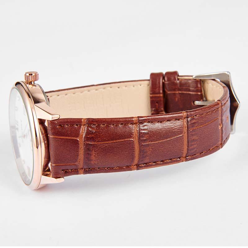 Фритюрница MILE Водонепроницаемые мужские кварцевые часы с кожаным ремешком (Фото 4)