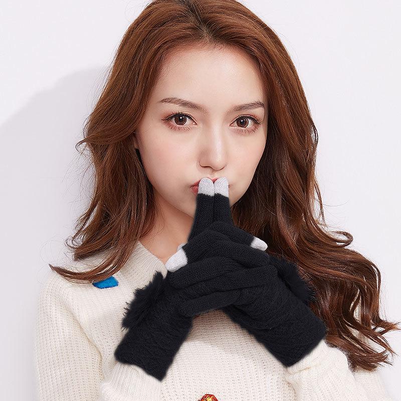 Фритюрница MILE Женские перчатки для сенсора осень-зима (Фото 2)