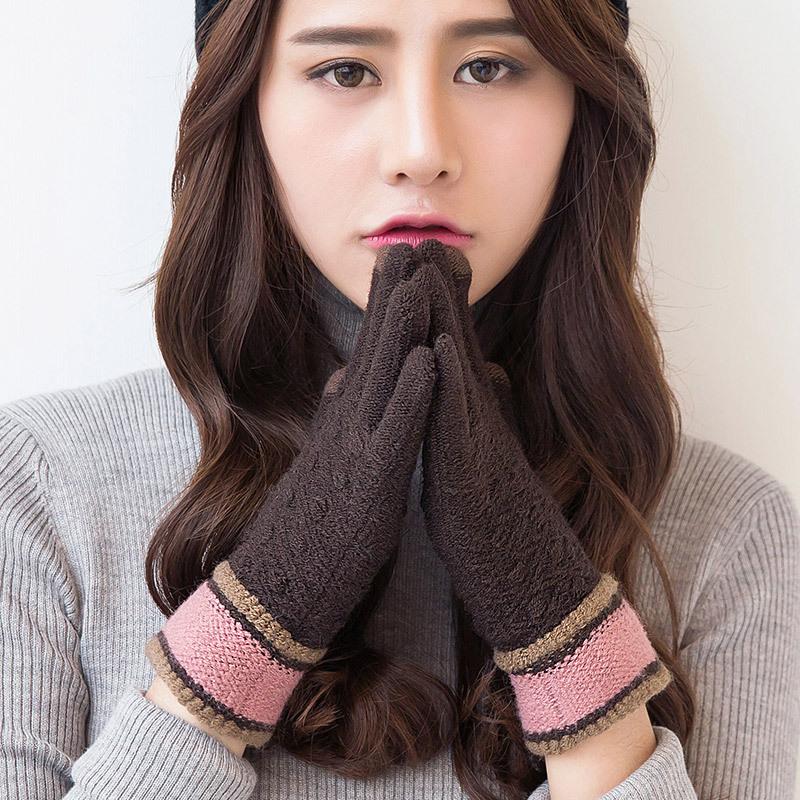 Фритюрница MILE Женские зимние вязаные перчатки для сенсора (Фото 4)