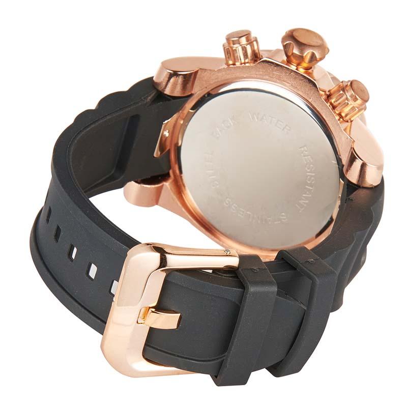 Фритюрница MILE Мужские водонепроницаемые часы с  PU кожаным ремешком (Фото 4)