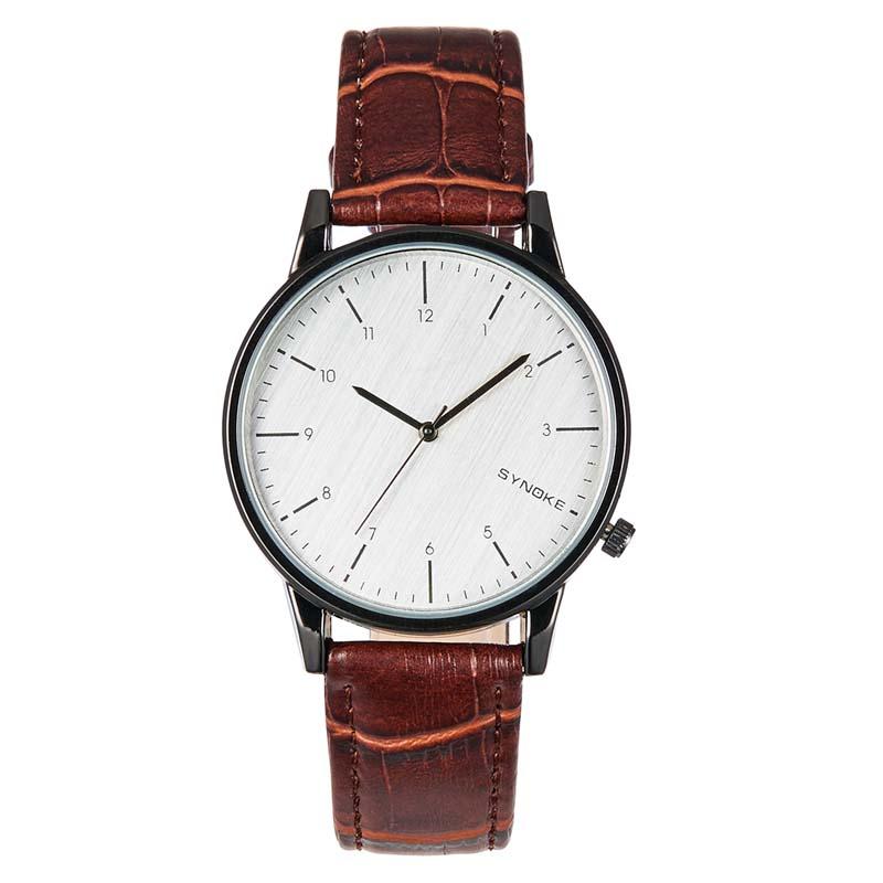Фритюрница MILE Кварцевые наручные часы с кожаным ремешком (Фото 1)