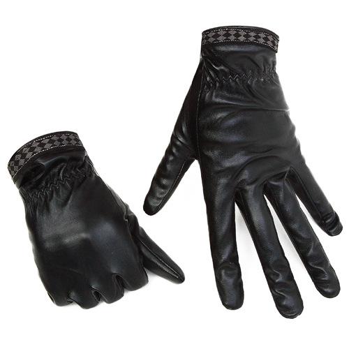 MILE Зимние кожаные перчатки