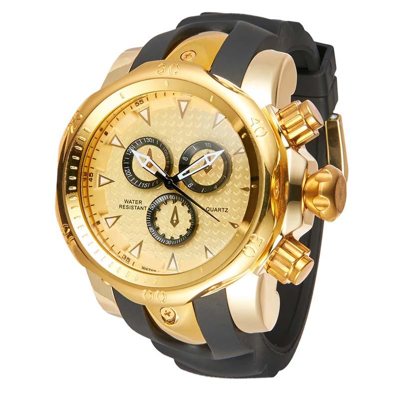 Фритюрница MILE Мужские водонепроницаемые часы с  PU кожаным ремешком (Фото 3)