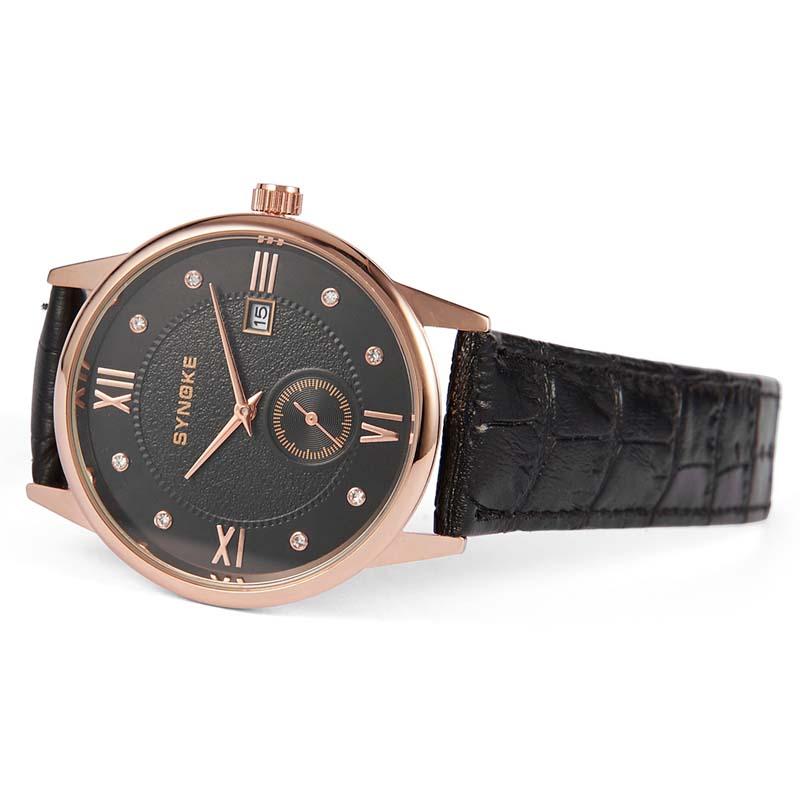 Фритюрница MILE Водонепроницаемые мужские кварцевые часы с кожаным ремешком (Фото 6)