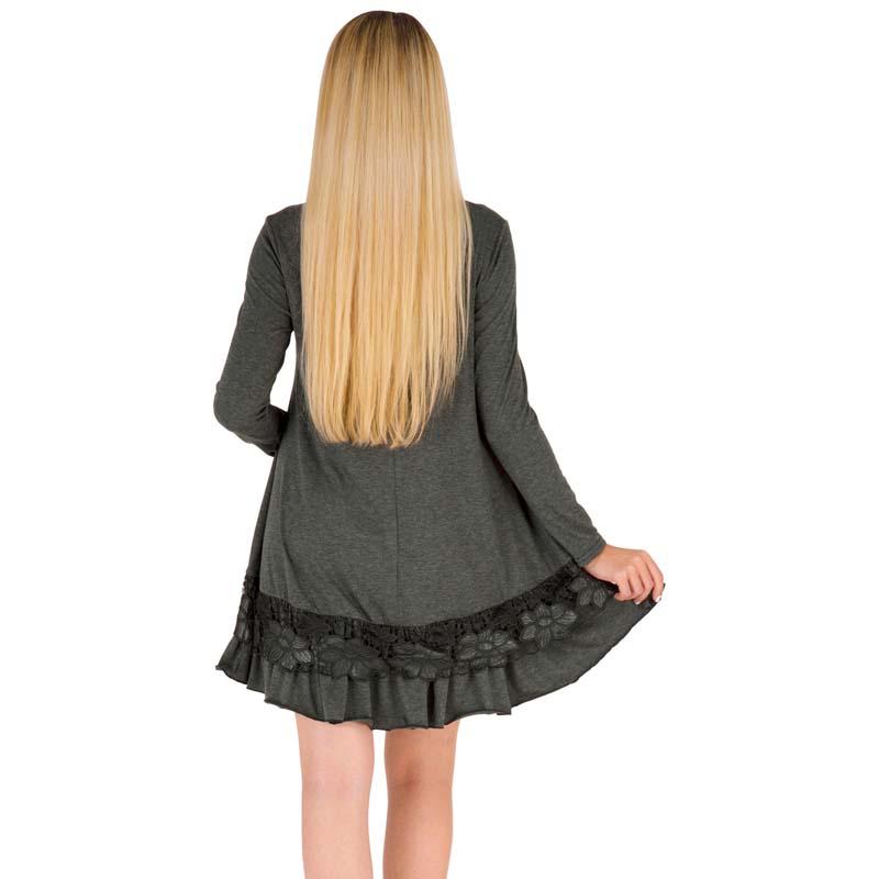 MILE Женское платье с длиным рукавом осень-зима