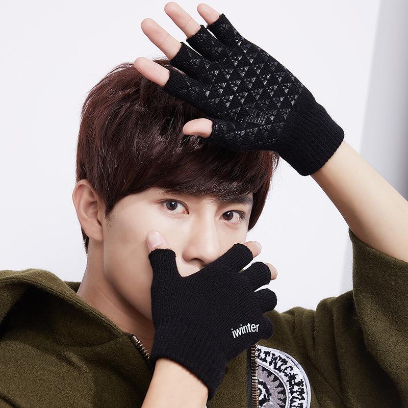 Фритюрница MILE Теплые вязаные перчатки без пальцев (Фото 2)
