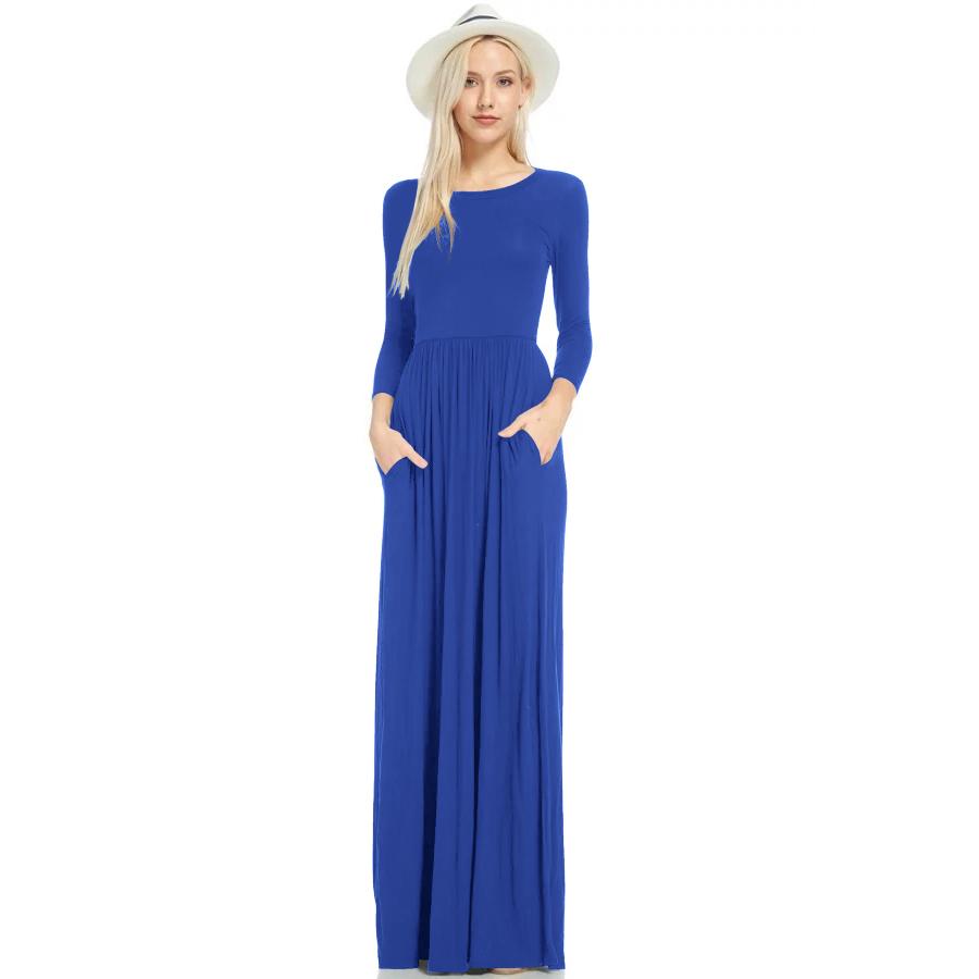 MILE Макси платье с длинным рукавом осень-зима