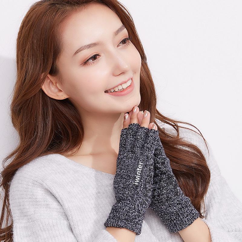 Фритюрница MILE Женские шерстяные перчатки без пальцев осень-зима (Фото 1)