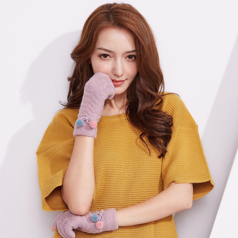 Фритюрница MILE Женские перчатки стрейч для сенсора (Фото 4)