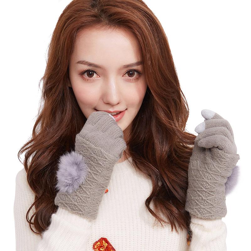 Фритюрница MILE Женские перчатки для сенсора осень-зима (Фото 4)