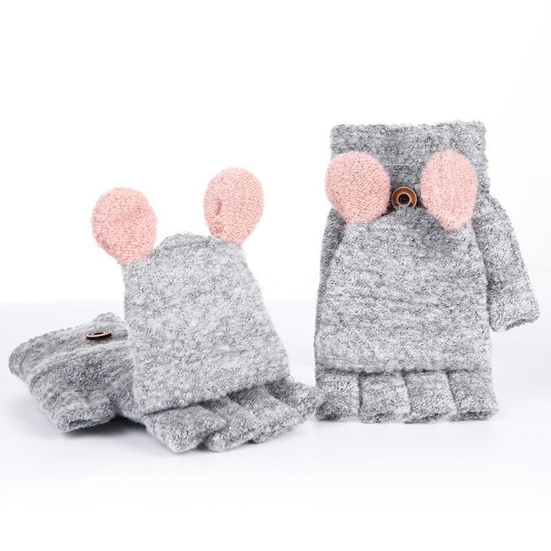 Фритюрница MILE Женские кашемировые перчатки без пальцев (Фото 3)