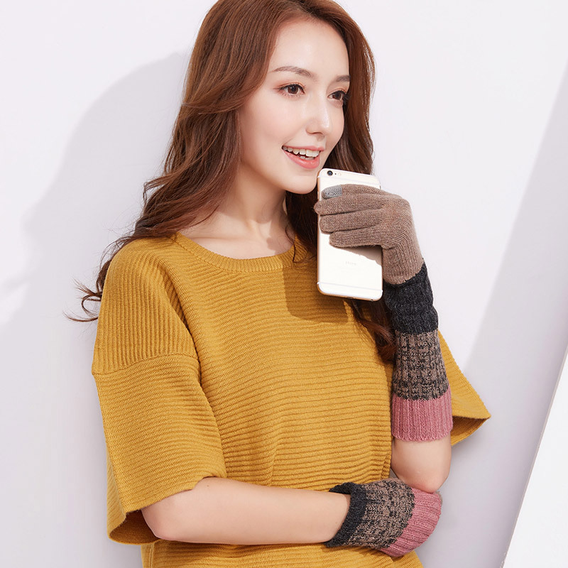 Фритюрница MILE Женские перчатки из флиса осень-зима (Фото 5)