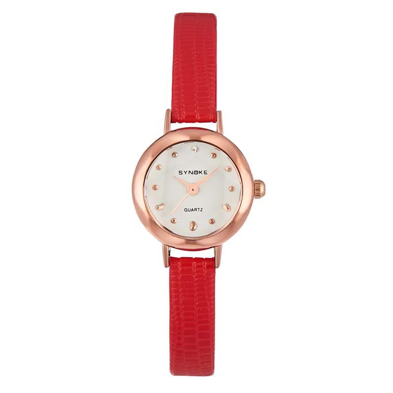 Часы Женские кварцевые наручные часы с кожаным ремешком (Photo 4)