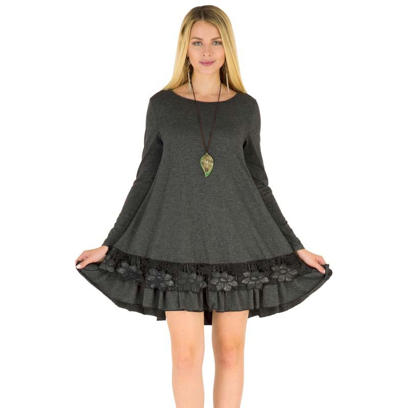 Фритюрница MILE Женское платье с длиным рукавом осень-зима (Фото 6)