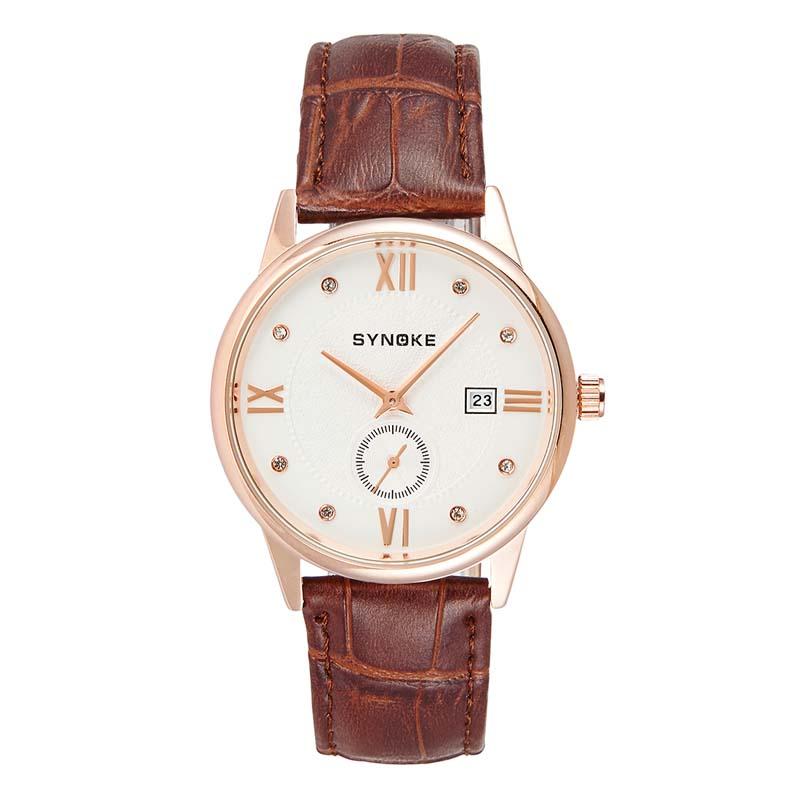 MILE Водонепроницаемые мужские кварцевые часы с кожаным ремешком
