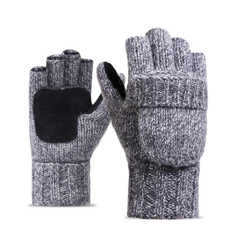 Фритюрница MILE Перчатки-варежки для мужчин и женщин из овечьей шерсти (Фото 2)
