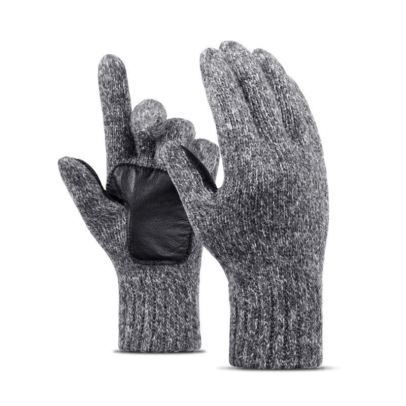 Фритюрница MILE Мужские вязаные перчатки из овечьей шерсти (Фото 1)
