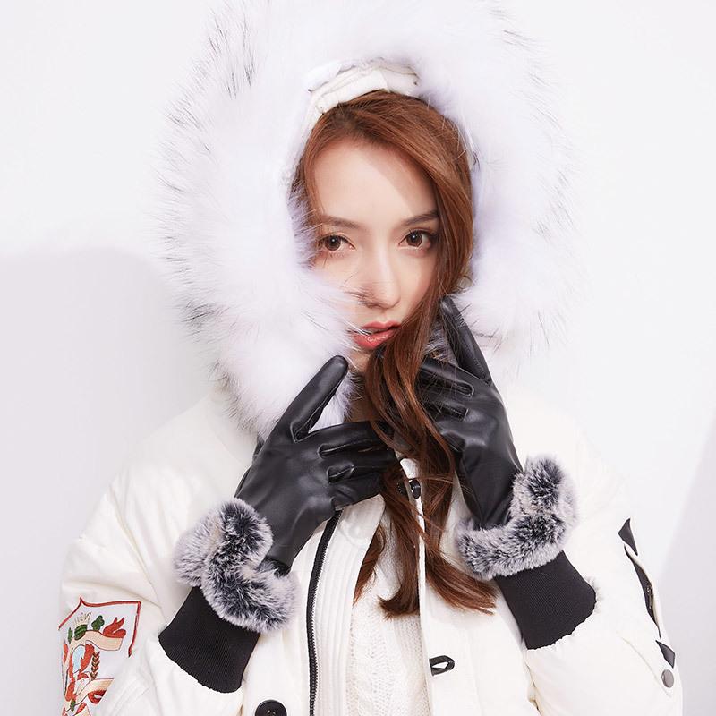 Фритюрница MILE Зимние перчатки из ПУ-кожи (Фото 4)