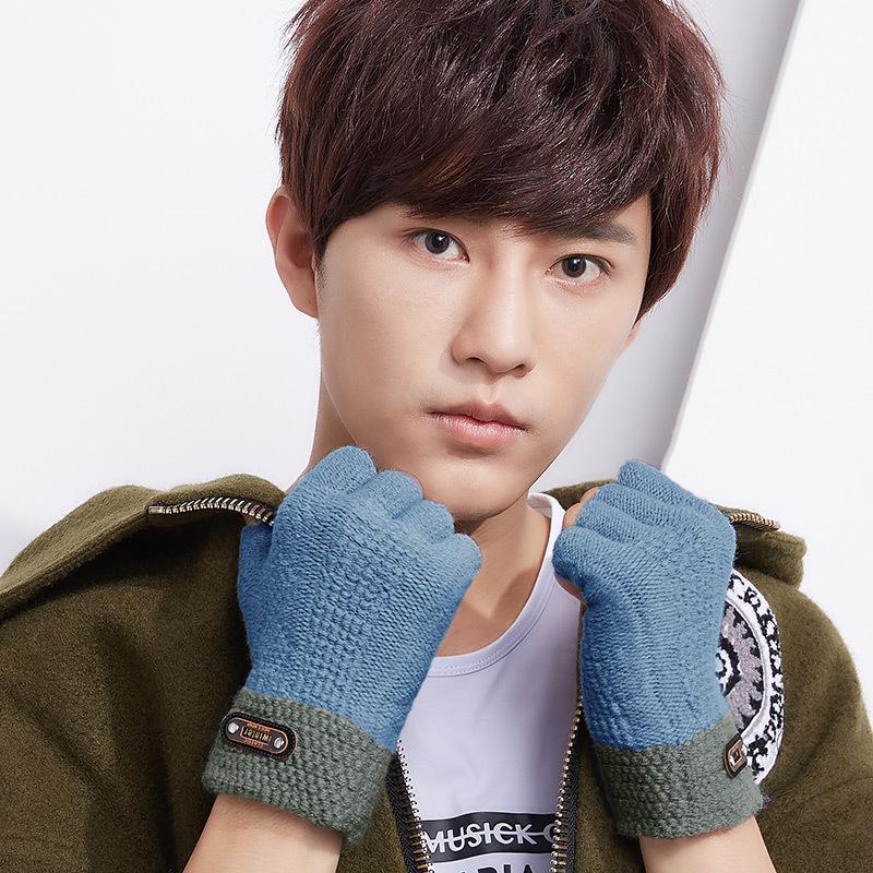 Фритюрница MILE Мужские зимние перчатки без пальцев (Фото 2)