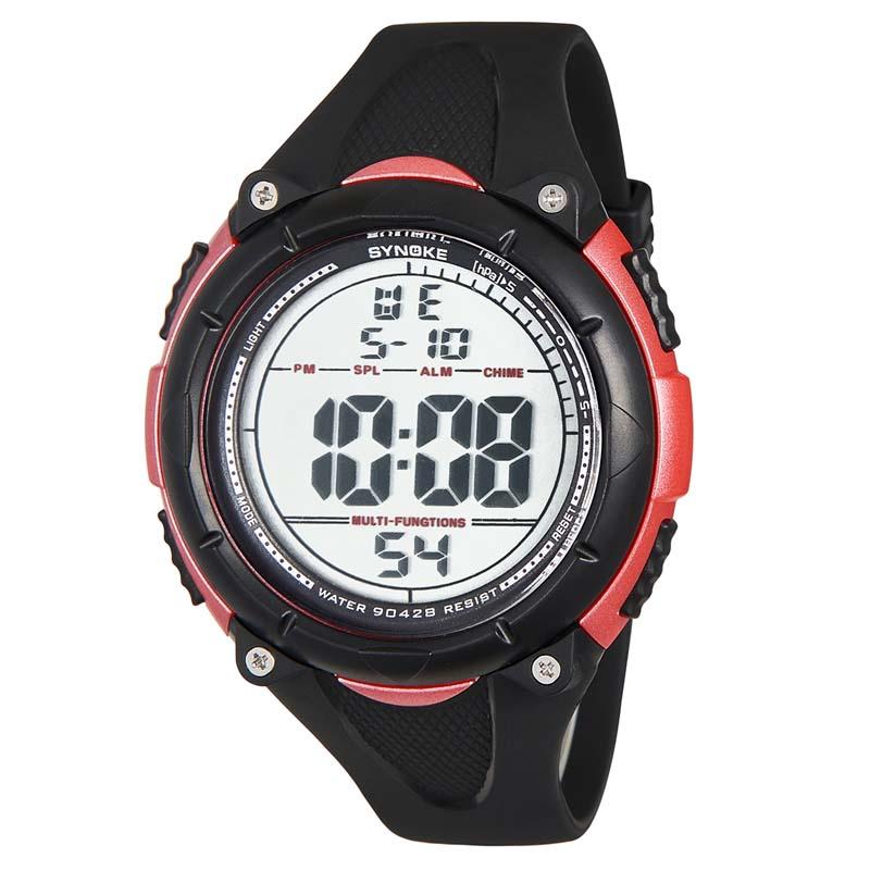 MILE Мужские цифровые силиконовые спортивные часы