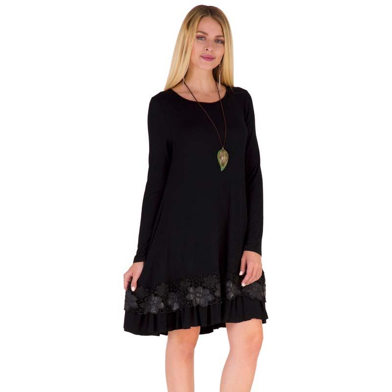 Фритюрница MILE Женское платье с длиным рукавом осень-зима (Фото 3)
