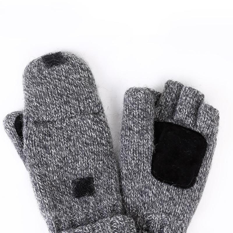 Фритюрница MILE Перчатки-варежки для мужчин и женщин из овечьей шерсти (Фото 3)