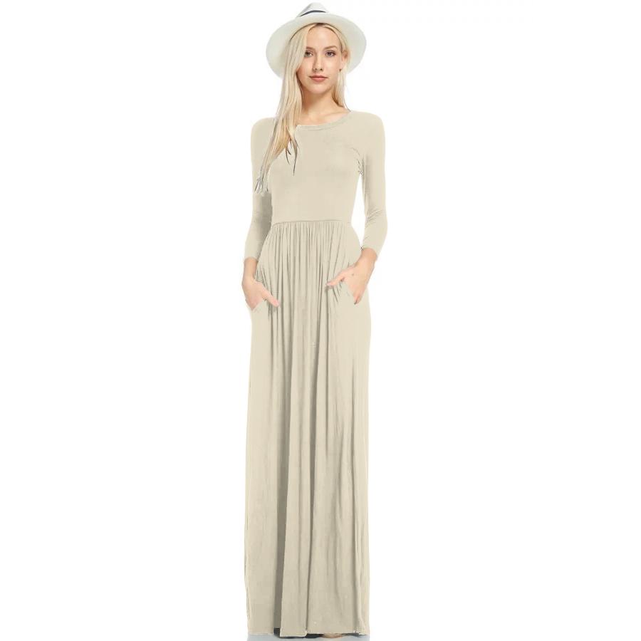 Фритюрница MILE Макси платье с длинным рукавом осень-зима (Фото 5)