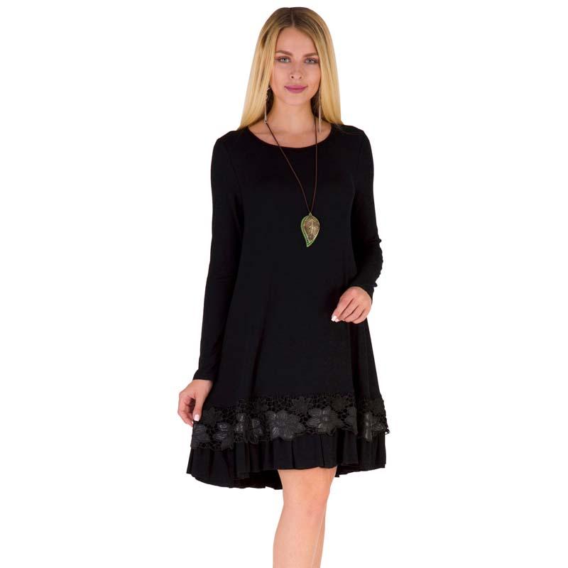 Фритюрница MILE Женское платье с длиным рукавом осень-зима (Фото 1)