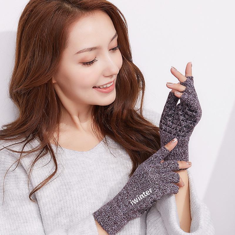 Фритюрница MILE Женские шерстяные перчатки без пальцев осень-зима (Фото 2)