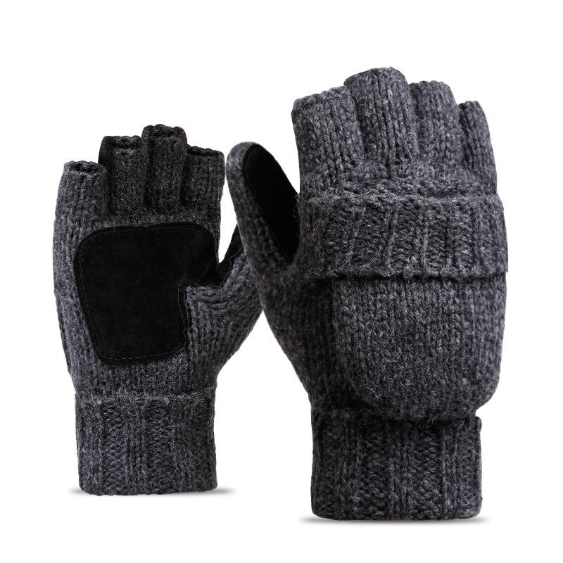 Фритюрница MILE Перчатки-варежки для мужчин и женщин из овечьей шерсти (Фото 5)