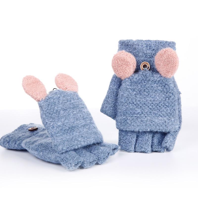 Фритюрница MILE Женские кашемировые перчатки без пальцев (Фото 6)