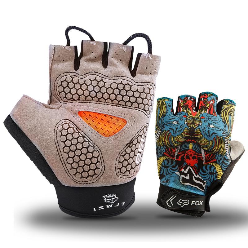 Фритюрница MILE Спортивные антискользящие перчатки без пальцев (Фото 5)
