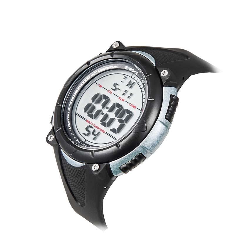 Фритюрница MILE Мужские цифровые силиконовые спортивные часы (Фото 6)